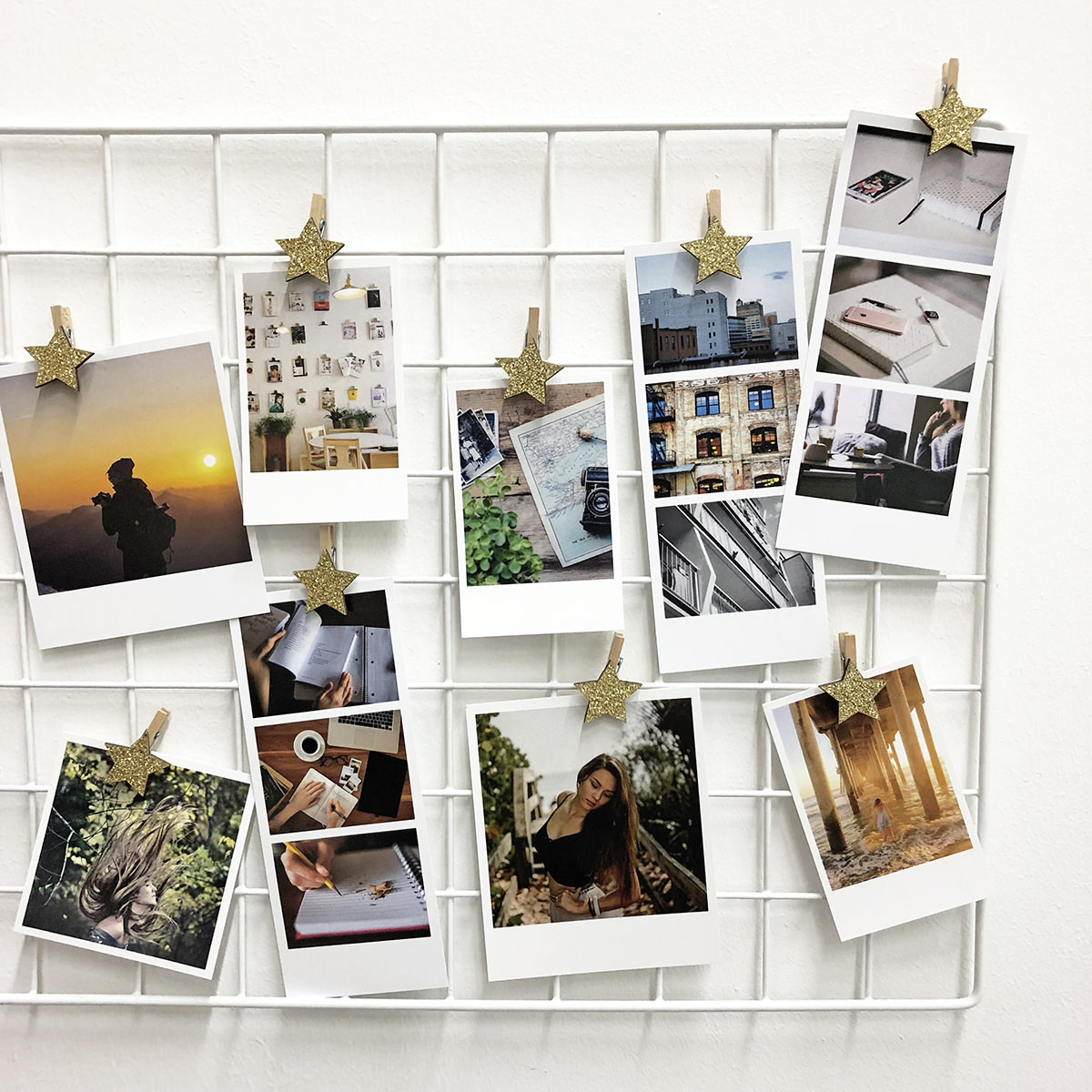 Preview of Photo Display Clothespin Kit (Gold Star)