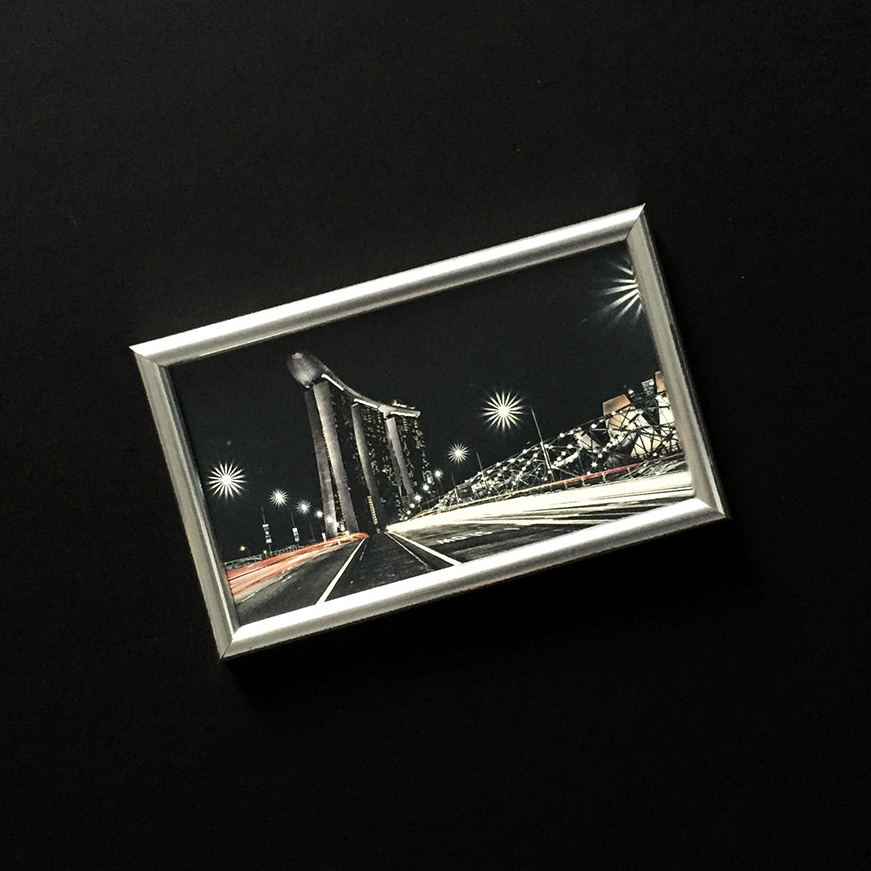 Preview of Framed Rectangle Print (Silver)