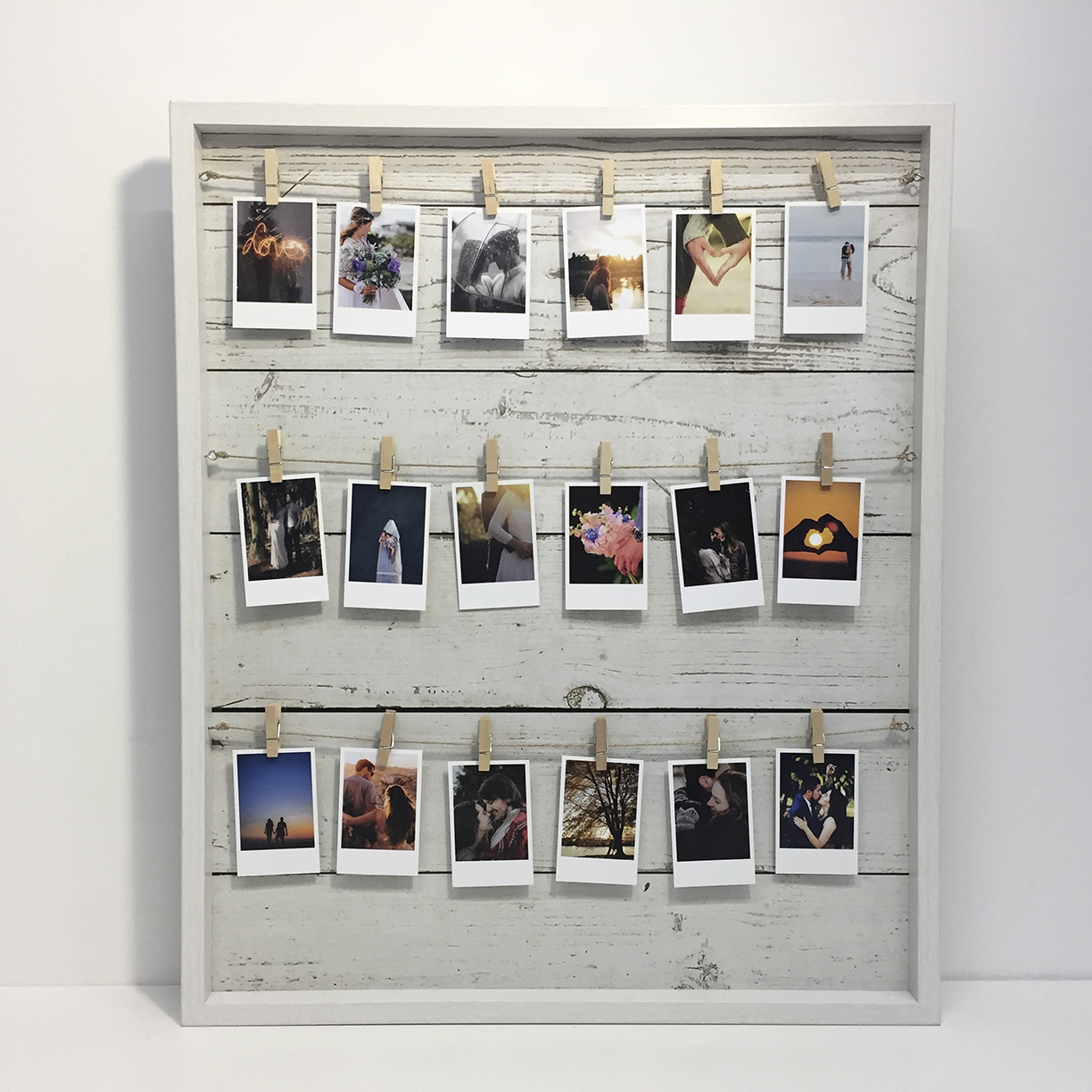 Preview of Photo Peg Frame (White)