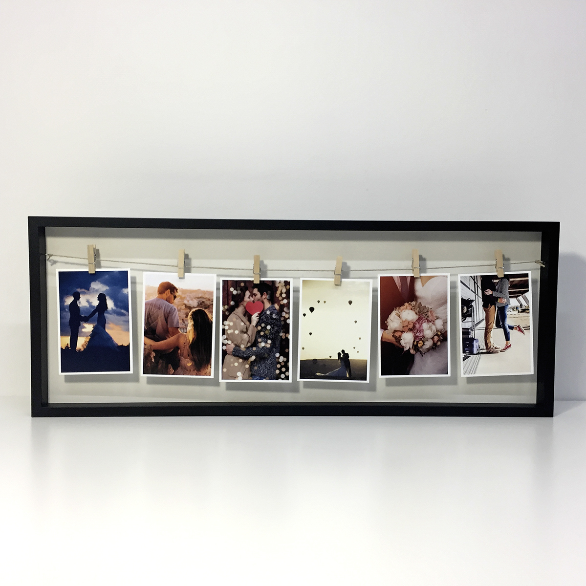 Preview of Long Photo Peg Frame (Black)