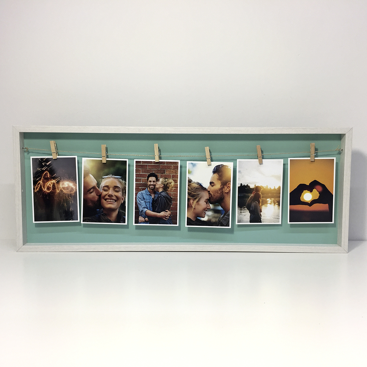 Preview of Long Photo Peg Frame (White)